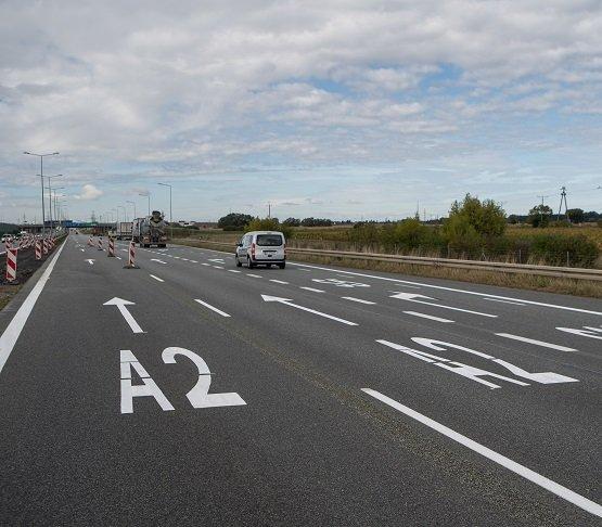 A2: remont nawierzchni na węźle autostradowym Września