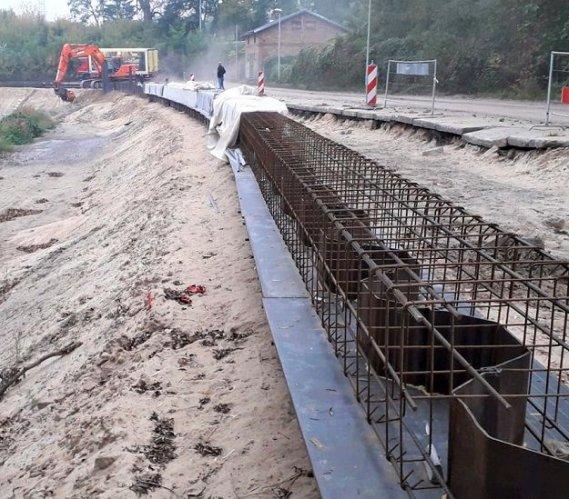 Budowa nabrzeża w Bydgoszczy