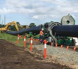 HDD w Australii: instalacja wielkośrednicowych rur