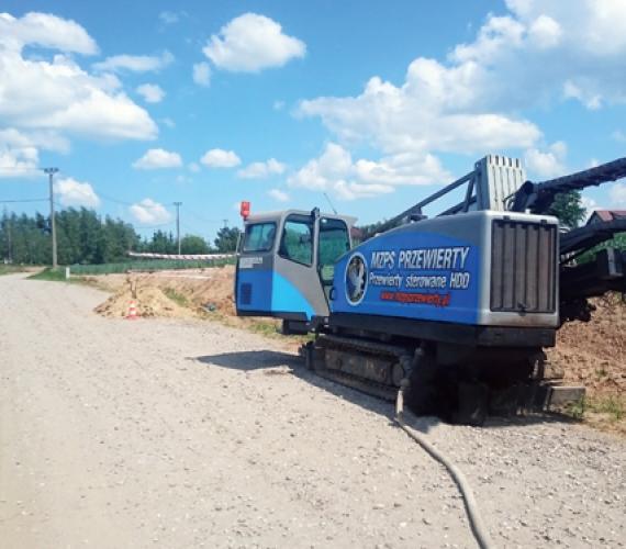 Przewierty HDD na budowie sieci wodociągowej na Pomorzu