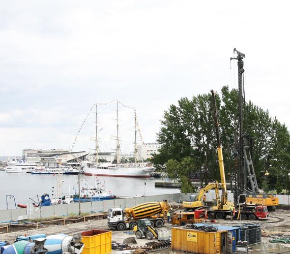 Gdynia Waterfront– kompleksowe zabezpieczenie wykopu i posadowienie obiektu