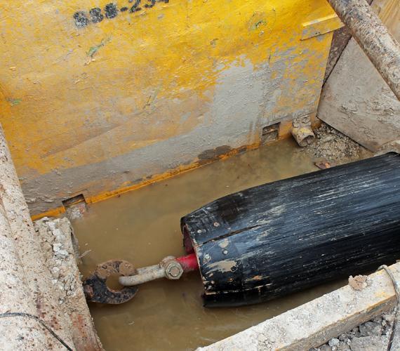Renowacja magistraliwodociągowej DN1000metodą swageliningu