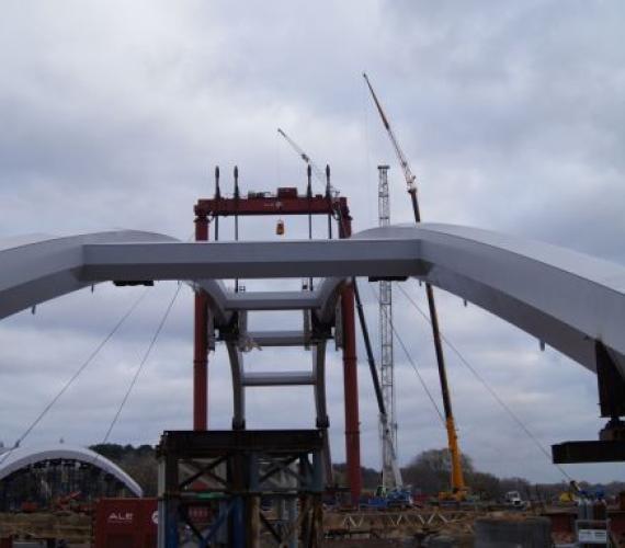 Budowa mostu w Toruniu. Fot. z archiwum Link PR