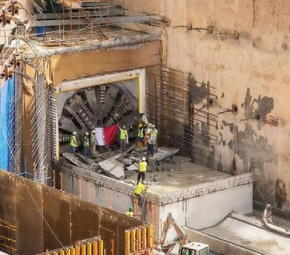 Drążenie tuneli metra w Dausze. Fot. The Peninsula