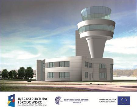 Wieża kontroli lotów - Poznań-Ławica. Źródło: Skanska S.A.