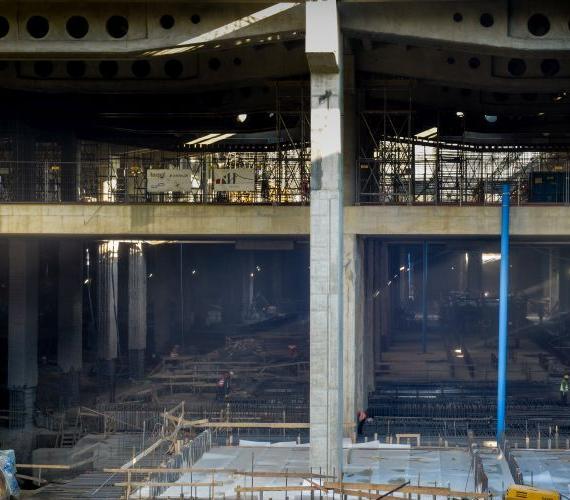 Budowa dworca Łódź Fabryczna. Fot. NLF Torpol-Astaldi s.c.