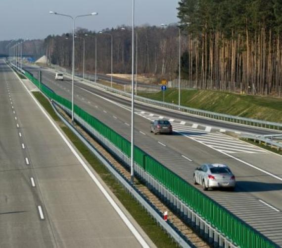 A2 na wysokości węzła Trzciel. Fot. z archiwum spółki Autostrada Wielkopolska