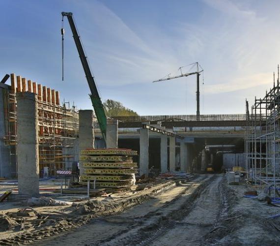 Plac budowy tunelu pod Martwą Wisłą w Gdańsku. Fot. GIK sp. z o.o.