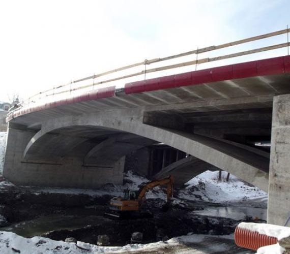 Most nad Biała w Grybowie. Fot. z archiwum GDDKiA o. Kraków