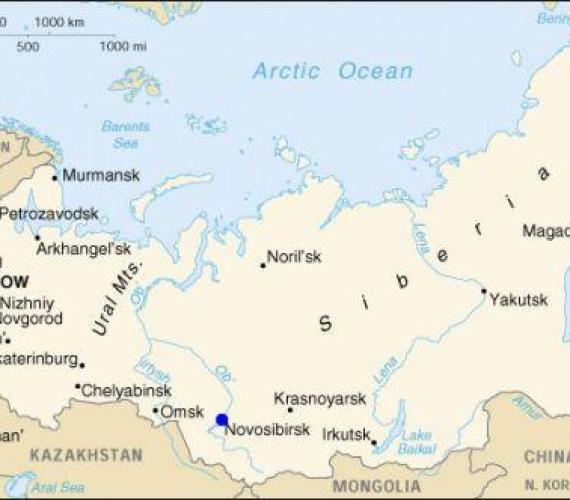 Most na rzece Ob w Nowosybirsku