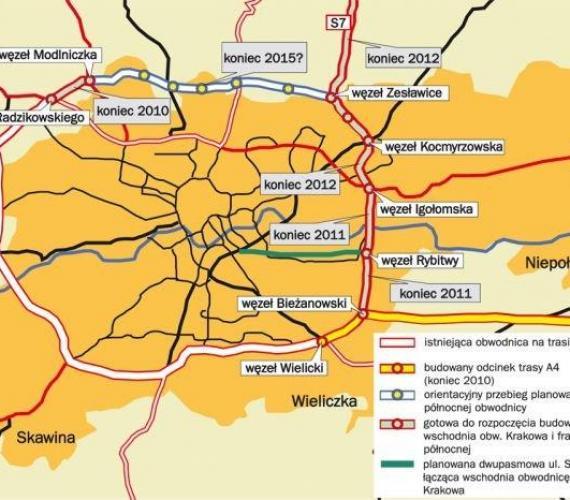 Obwodnica Krakowa / Źródło: krakow.gddkia.gov.pl