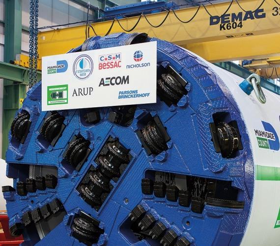 Budowa tunelu w porcie w Miami