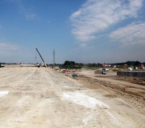 Budowa autostrady A4 - odcinek Wierzchosławice - Krzyż. Fot. inzynieria.com