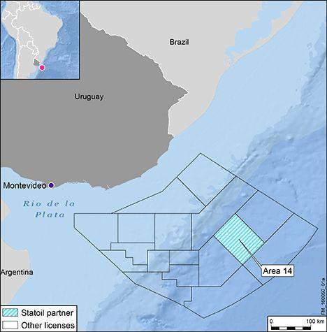 Statoil będzie wiercić w Urugwaju. Źródło: Statoil