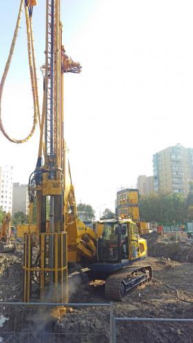 Prace geotechniczne na budowie II linii metra w Warszawie