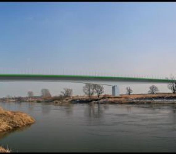 Wizualizacja mostu nad Ordą w okolicy Brzegu Dolnego. Źródło: Dolnośląska Służba Dróg i Kolei