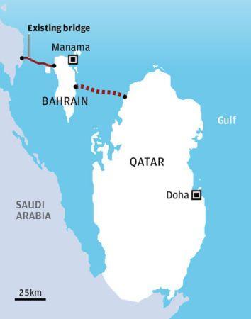 Wzrastają koszty przeprawy łączącej Katar z Bahrajnem