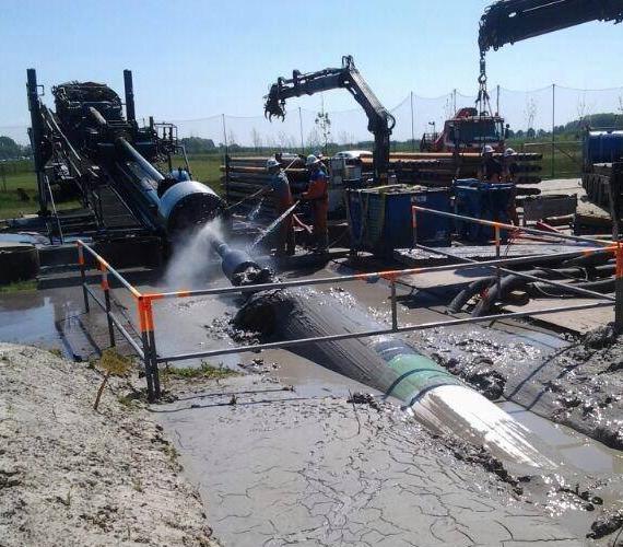 Holandia: instalacja gazociągu metodą HDD na dystansie 1090 m