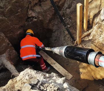Bezwykopowa wymiana wodociągu na warszawskiej Ochocie