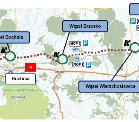 Postępy prac na autostradzie z Tarnowa do Szarowa