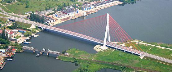 Trasa Sucharskiego będzie przebiegała również przez most wantowy na Martwej Wiśle.