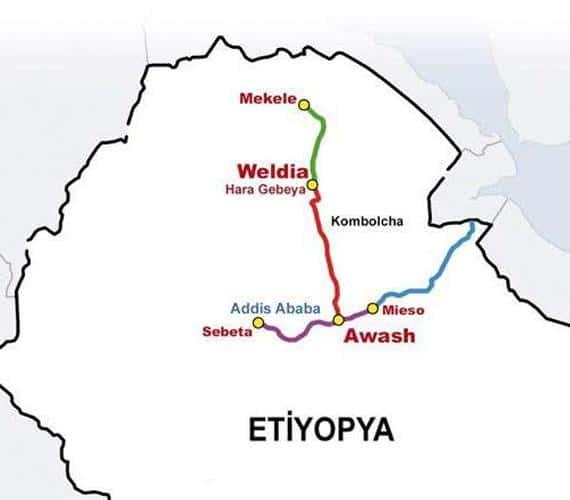 Etiopia: sześć tuneli na kolejowej trasie