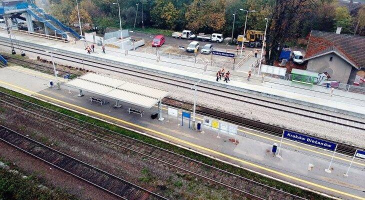 Nowy peron na stacji Kraków Bieżanów. Fot. PKP PLK