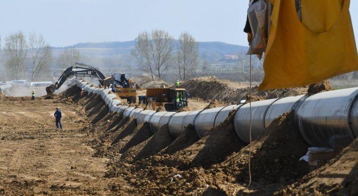 Spawanie rurociągu TAP w Albanii. Fot. TAP AG