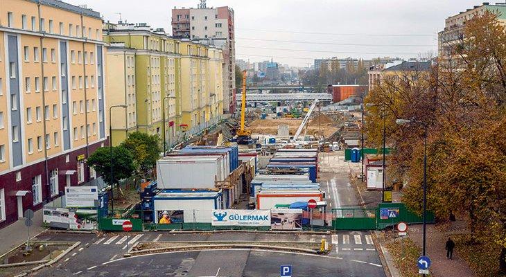 FOT. 1. Plac budowy odcinka zachodniego II linii metra. Źródło: Metro Warszawskie sp. z o.o.