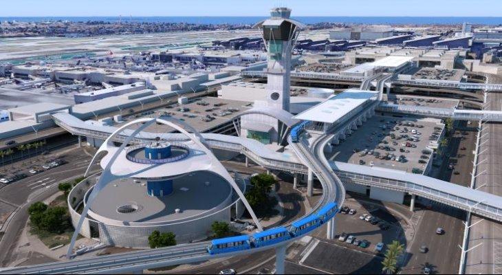 W Los Angeles użytkownicy portu lotniczego wożeni będą autonomiczną kolejką. Źródło: LAX