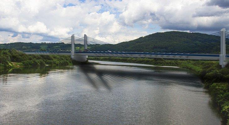 Wizualizacja mostu nad Dunajcem w Kurowie. Źródło: GDDKiA