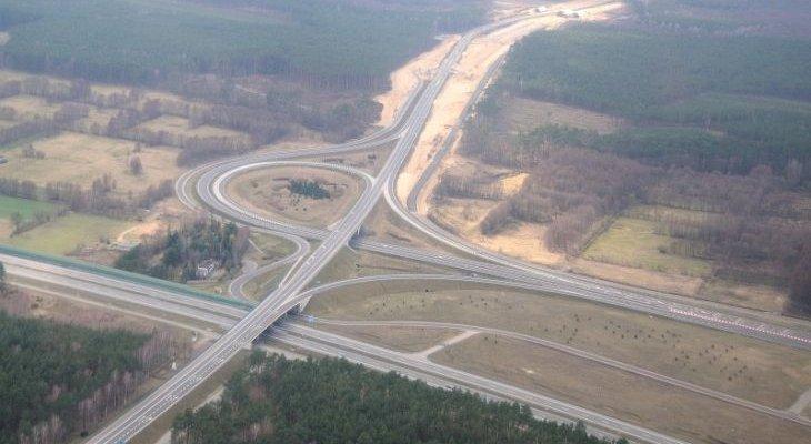 Węzeł Nowe Marzy na skrzyżowaniu A1 i S5. Fot. GDDKiA