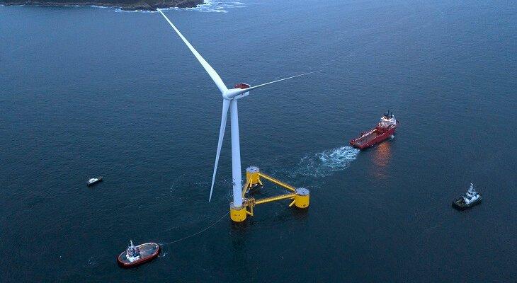 Transport pierwszej z platform WindFloat Atlantic. Fot. mat. prasowe