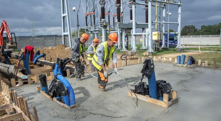 Budowa magazynu energii w Cieszanowicach. Fot. Tauron Dystrybucja