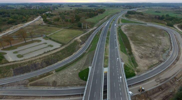 Obwodnica Szczecinka na drodze ekspresowej S11. Fot. GDDKiA