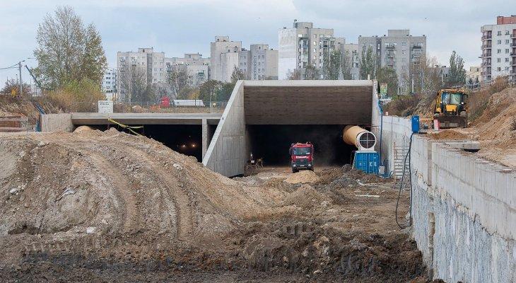 Budowa tunelu pod Ursynowem, październik 2019 r. Fot. Krzysztof Nalewajko/GDDKiA
