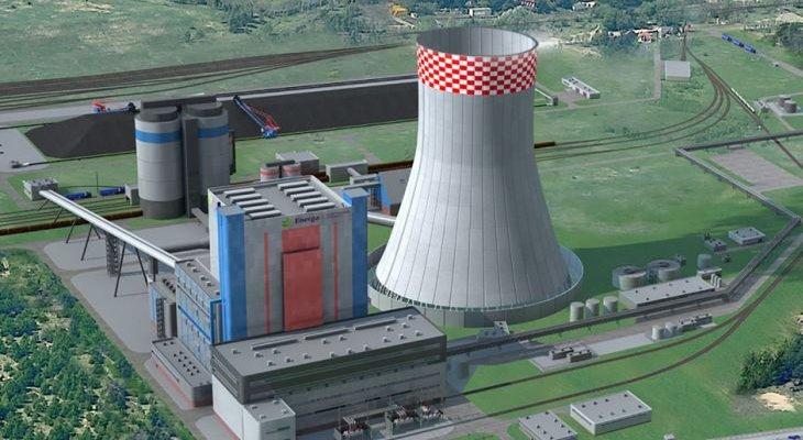 Wizualizacja Elektrowni Ostrołęka C. Źródło: Elektrownia Ostrołęka