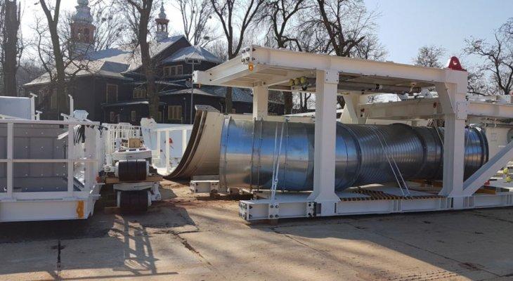 Pierwsze elementy dużej maszyny TBM już w Łodzi. Fot. PKP PLK