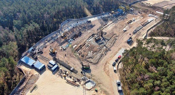 Budowa komory startowej dla TBM. Fot. tunel-swinoujscie.pl