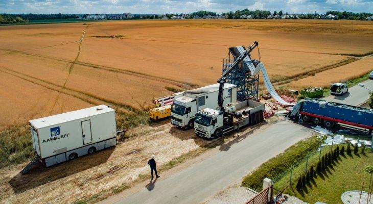 Renowacja kanalizacji w Kościelnej Wsi. Fot. Aarsleff sp. z o.o.
