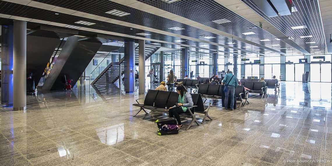 Lotnisko w Pyrzowicach - terminal A po przebudowie