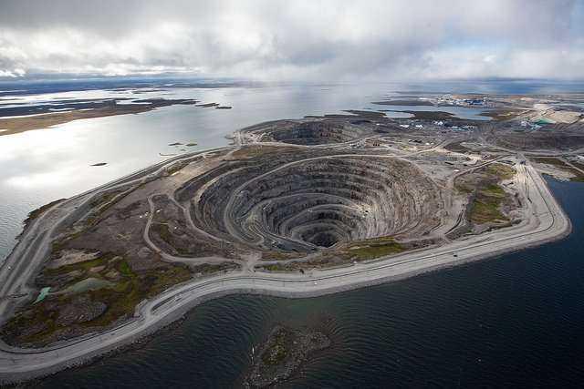 Kopalnia diamentów Diavik zasilana przez farmę wiatrową