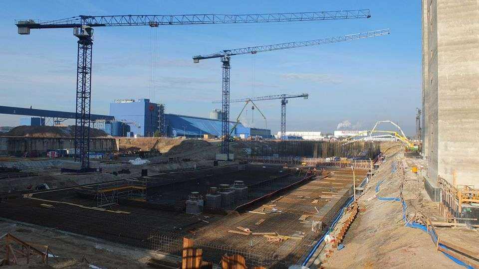 Betonowanie fundamentu maszynowni nr 6 w Elektrowni Opole