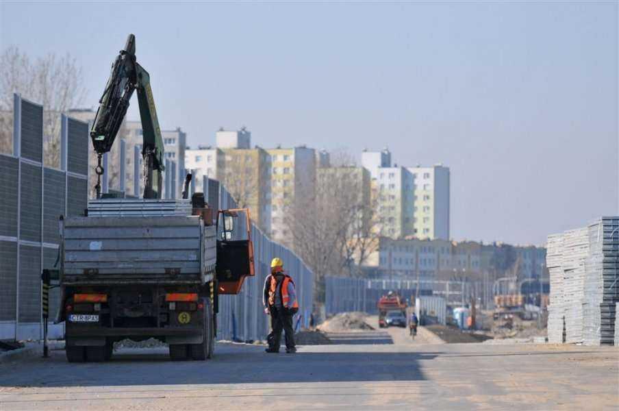 II etap budowy Trasy Średnicowej Północnej - postęp prac
