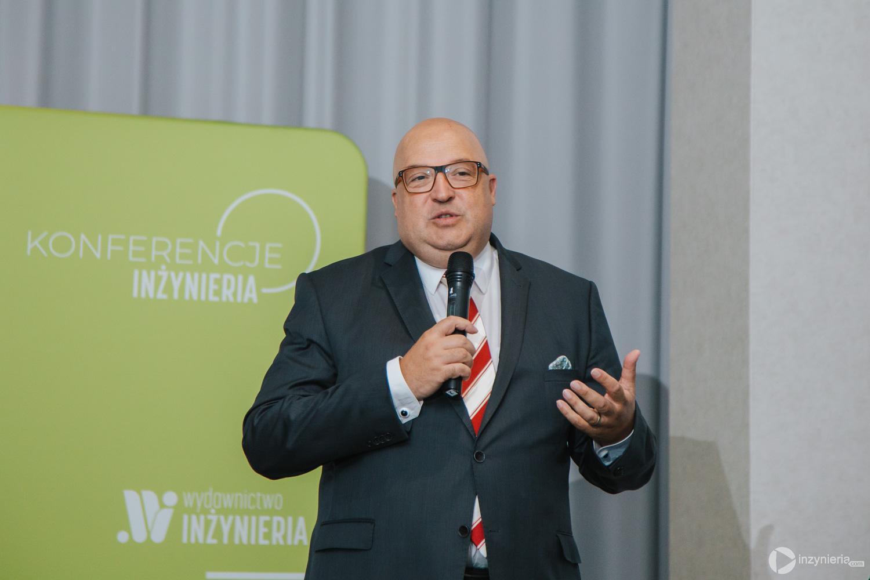 """Roland W. Waniek, IKT – Institut für Unterirdische Infrastruktur gGmbH. IV Konferencja """"Renowacja Wykładzinami (Rękawami) Utwardzanymi na Miejscu"""". Fot. Quality Studio dla www.inzynieria.com"""