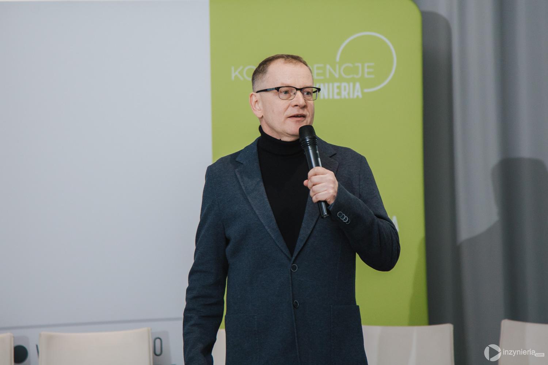 """Mirosław Cecuga, Sezam Instal sp.j. IV Konferencja """"Renowacja Wykładzinami (Rękawami) Utwardzanymi na Miejscu"""". Fot. Quality Studio dla www.inzynieria.com"""