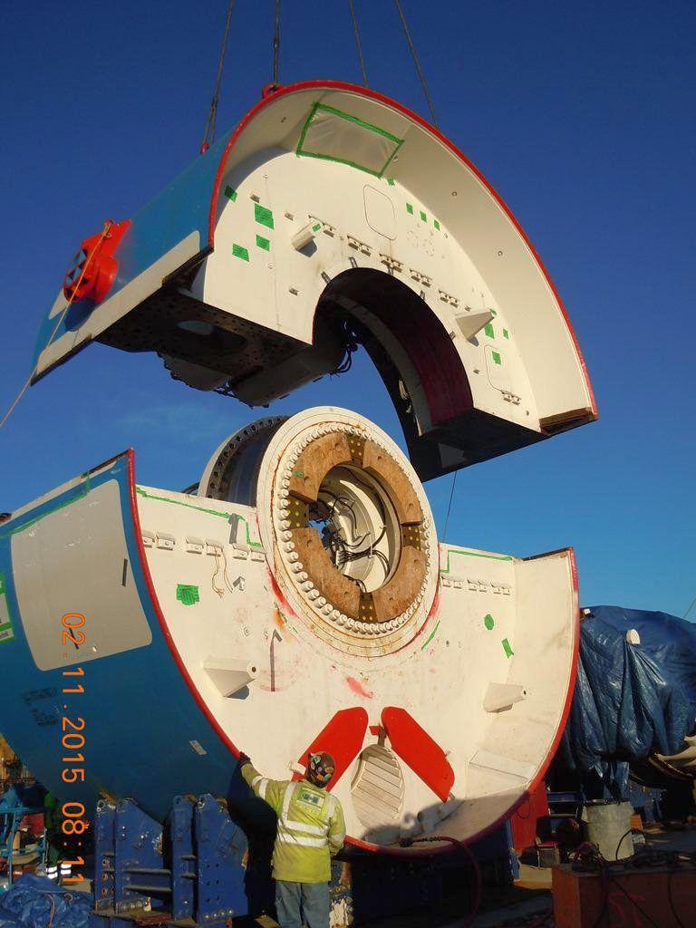 Budowa Anacostia Tunnel: TBM Lady Bird. Fot. DC Water