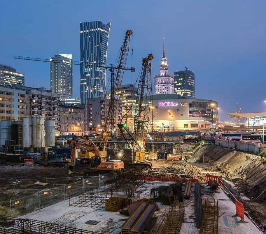 W Warszawie powstaje najwyższy wieżowiec w UE [zdjęcia z budowy]