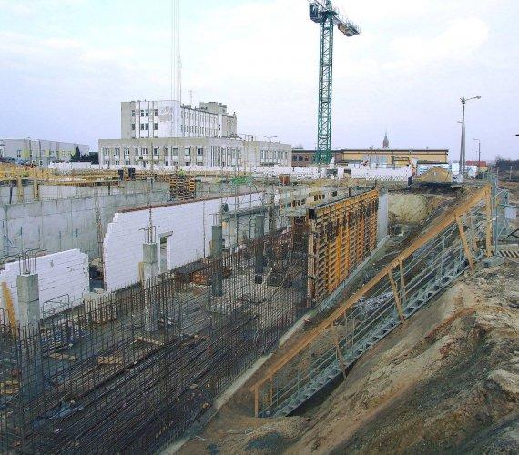 Budowa Komendy Miejskiej Policji w Kaliszu. Widać już efekty prac