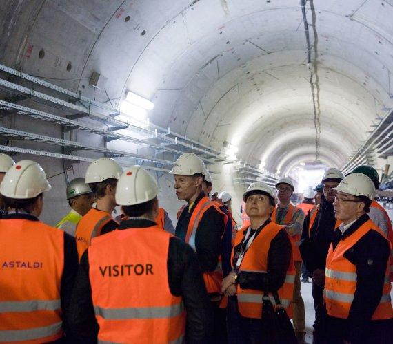Wycieczka na budowę II linii metra w Warszawie